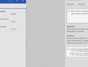 capture d'écran de la démonstration du codage à partir de langage naturel dans Power Apps de Microsoft