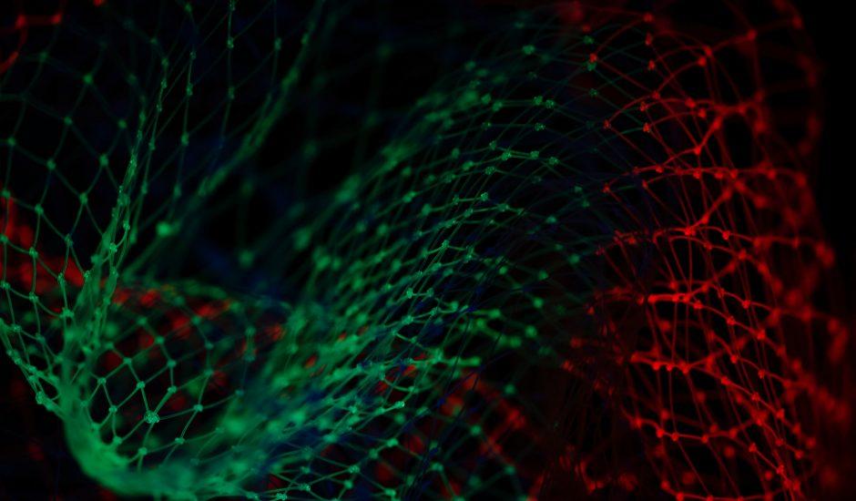 Un réseau neuronal artificiel.