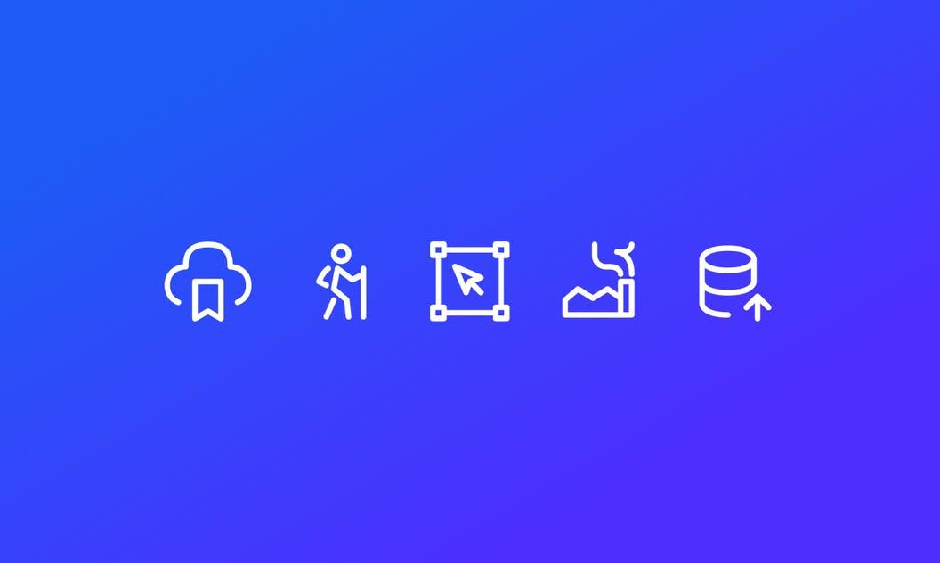 exemple d'icônes dans Iconoir
