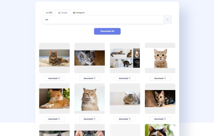 ImgDownloader exemple de recherche sur Google