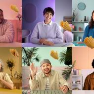 Une mosaïque de six personnes en visioconférence