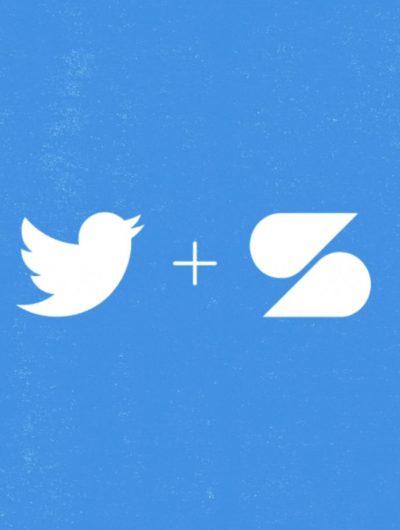Les logos de Twitter et de Scroll