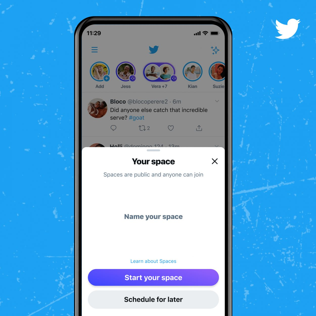 interface twitter spaces