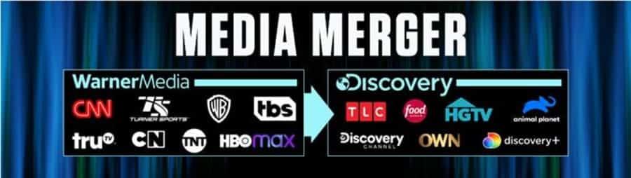 représentation de la fusion des médias et des plateformes de WarnerMedia et Discovery