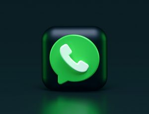 Illustration du logo de WhatsApp.