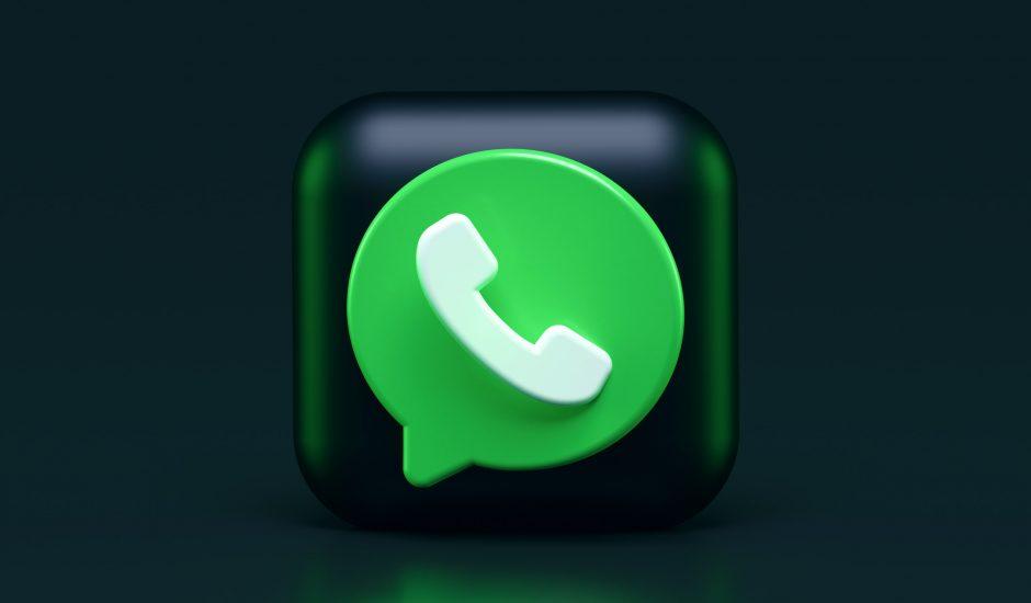 Illustration du logo de WhatsApp.