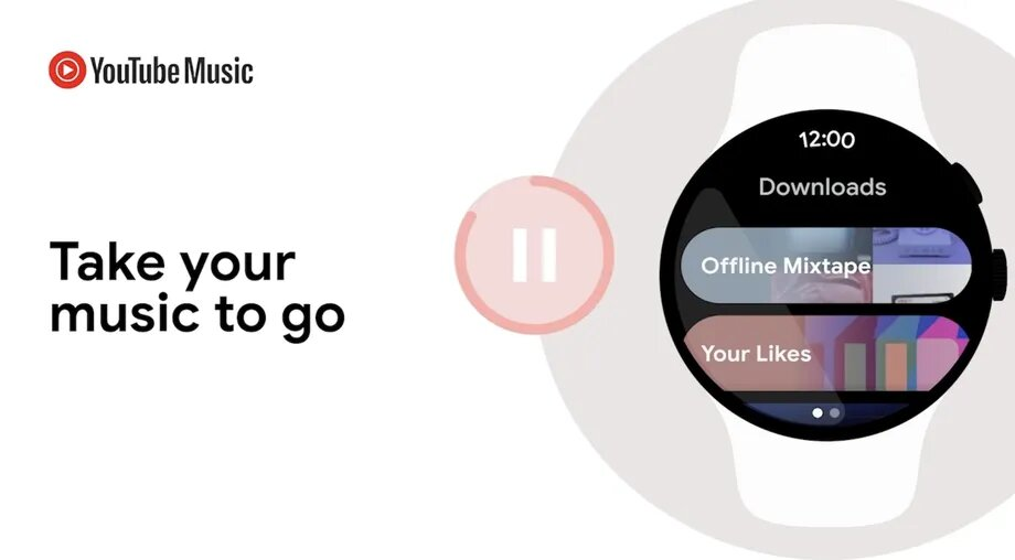 interface youtube music sur wear os