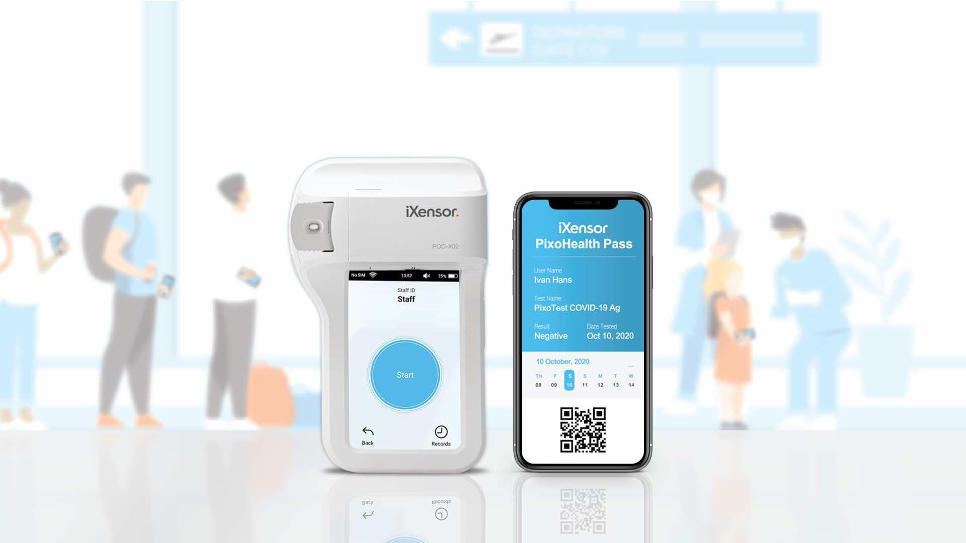 iXensor lance un autotest sur smartphone pour détecter la présence du Covid-19