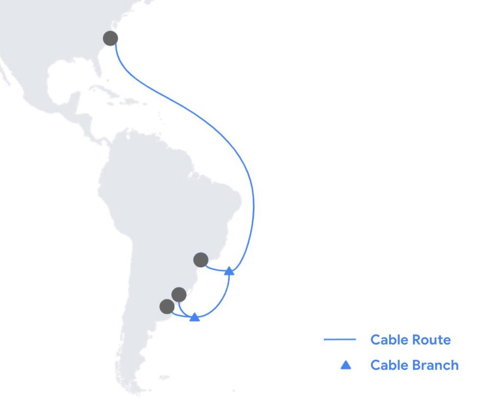 Le plan de l'Amérique avec trajectoire câble Firmina
