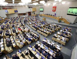 séance plénière de la chambre basse russe