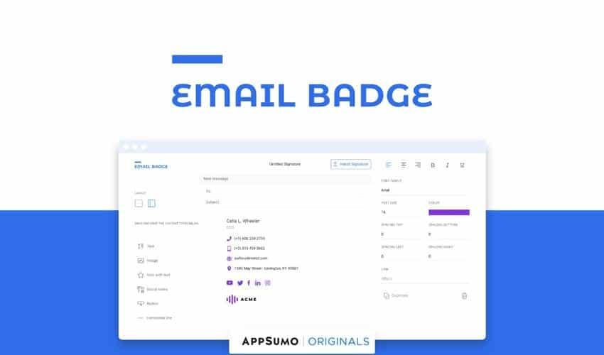 Email Badge présentation