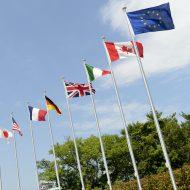 Les drapeaux des pays du G7.