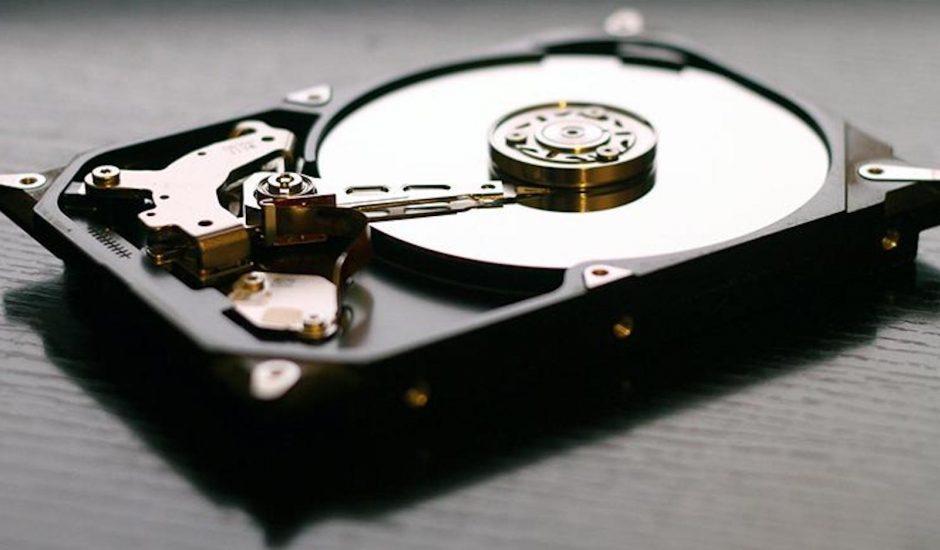 Aperçu d'un disque dur composé de graphène.