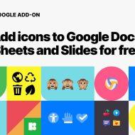 Icons 8 add-on Google