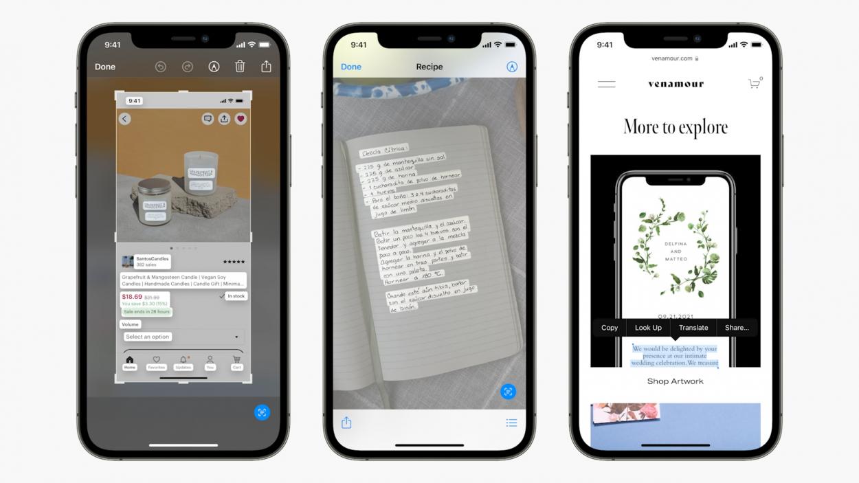 Apple live text iOS 15