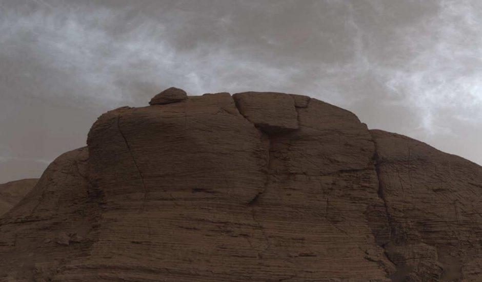 Aperçu des nuages sur Mars.