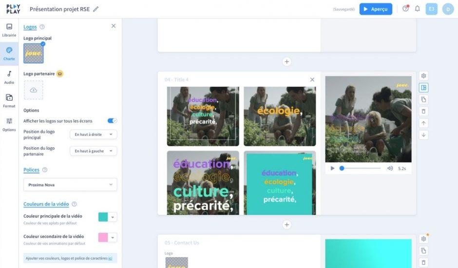 l'interface du logiciel de video PlayPlay