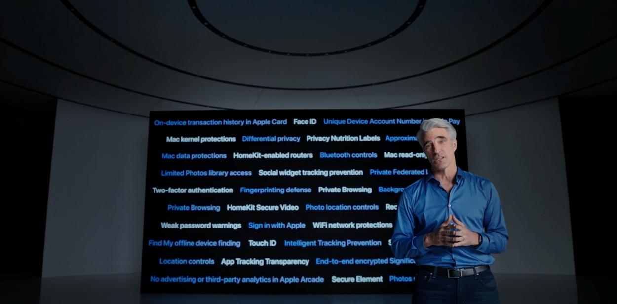 Craig Federighi d'Apple durant la WWDC
