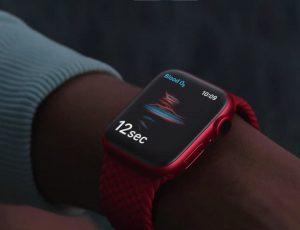 Aperçu d'une Apple Watch.