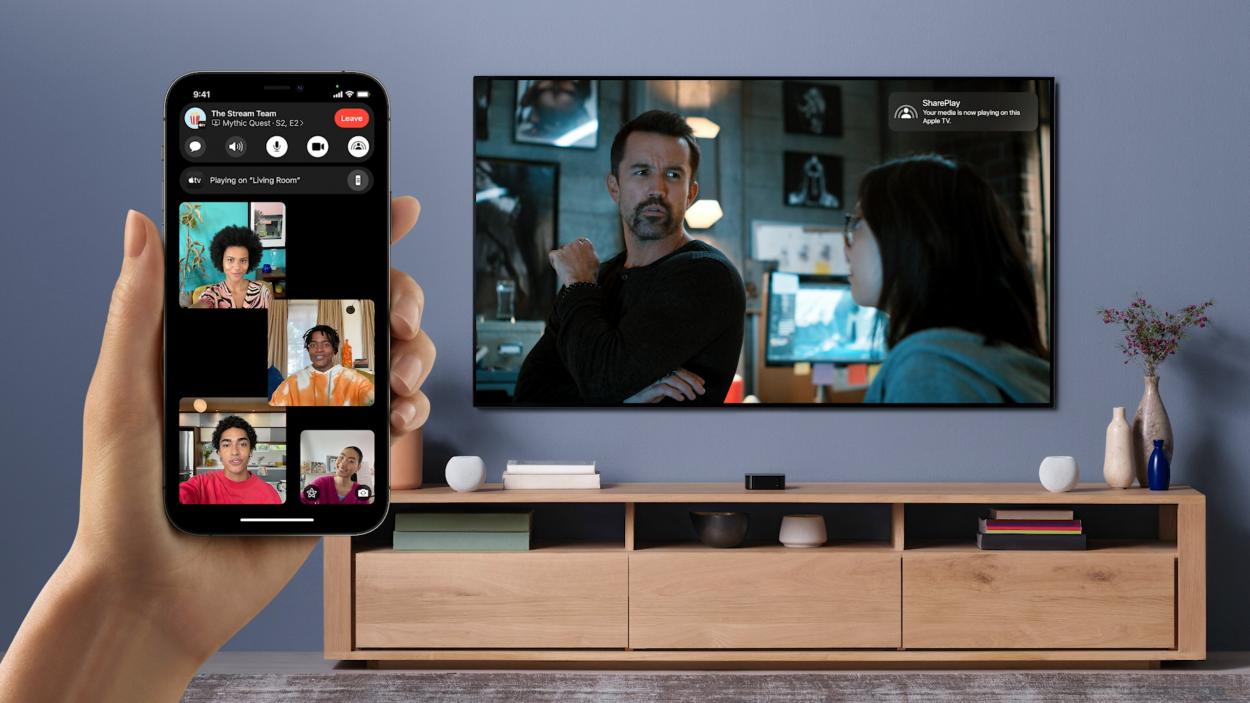 utilisation de SharePlay avec FaceTime et une TV connectée
