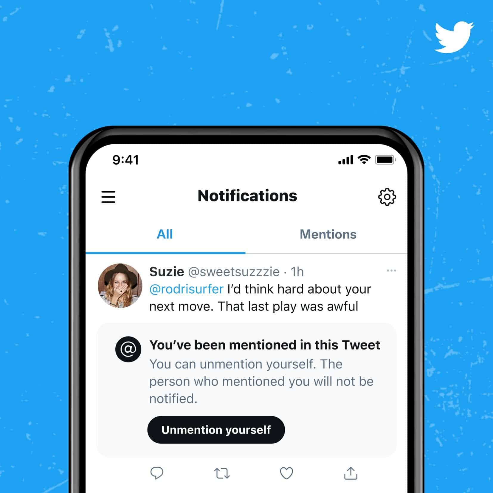 Twitter réfléchit à une option pour se «démentionner» d'un Tweet