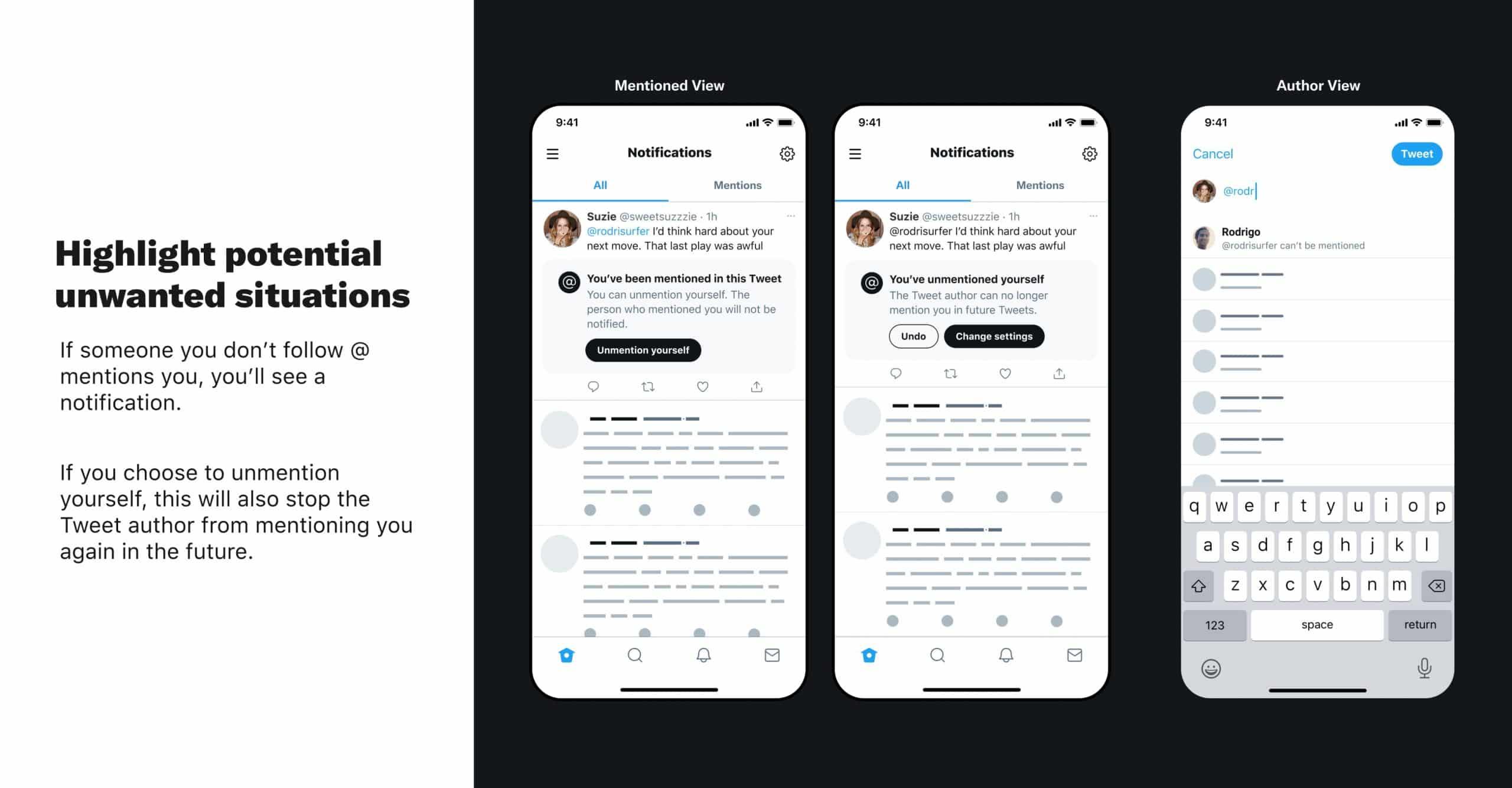 Twitter permettra de gérer les mentions depuis les paramètres.