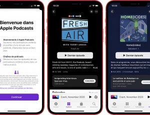 interface des abonnements payants d'Apple Podcasts