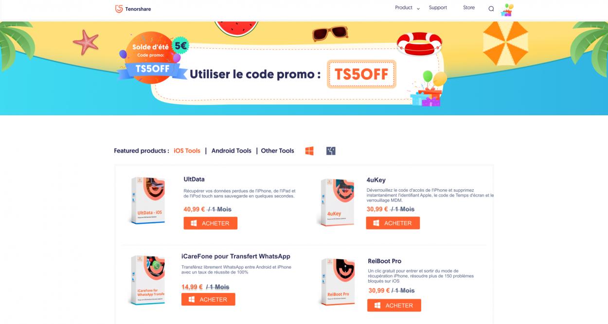 code promo Tenorshare