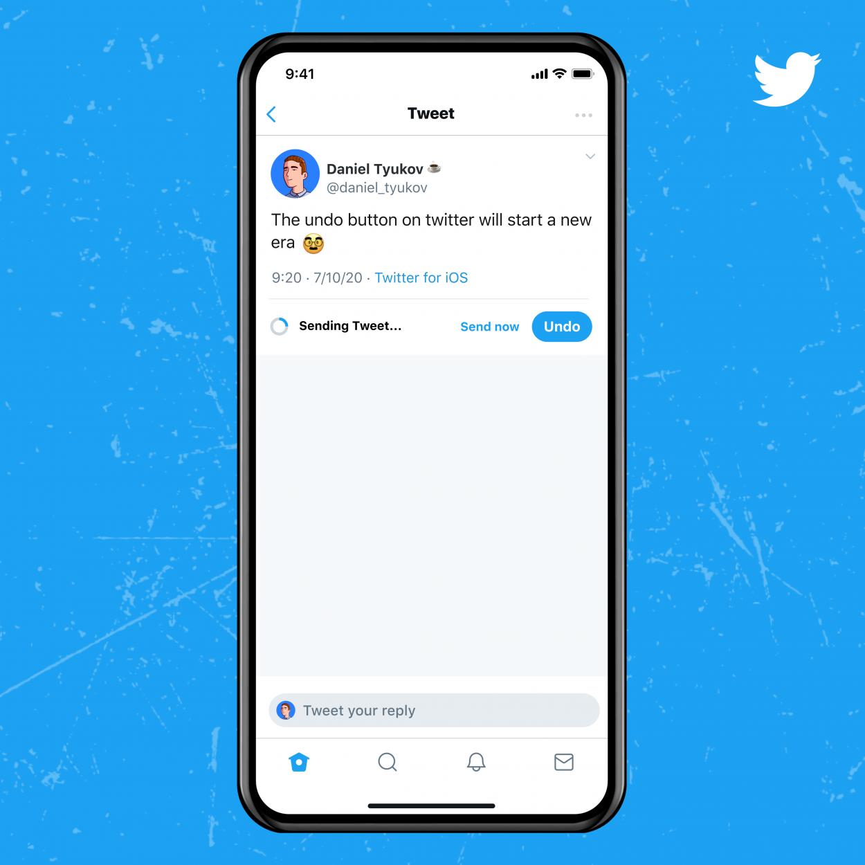 Une animation signifiera à l'utilisateur le temps qu'il lui reste pour annuler son tweet