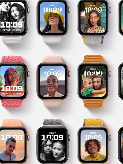 des apple watch de plusieurs couleurs
