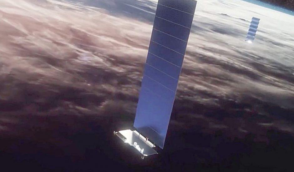 Un satellite Starlink en orbite.