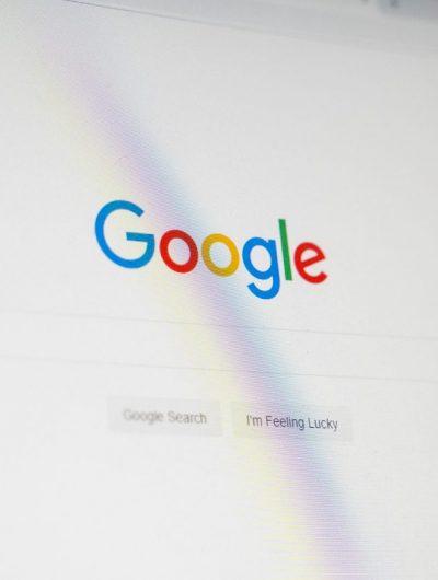 Le moteur de recherche de Google.