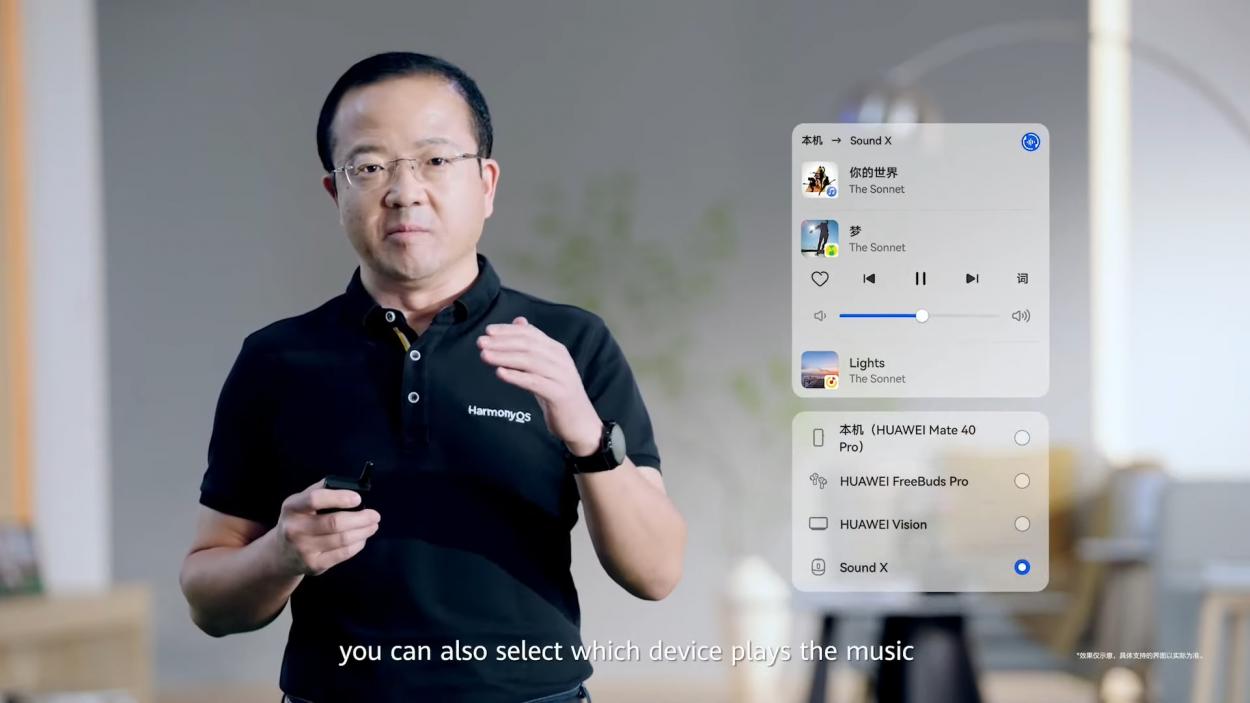 capture de la présentation d'harmonyOS par Huawei