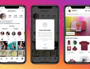 présentation de la boutique en ligne sur les comptes Instagram des créateurs