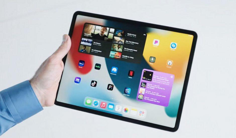 Un iPad intégrant iPadOS 15.
