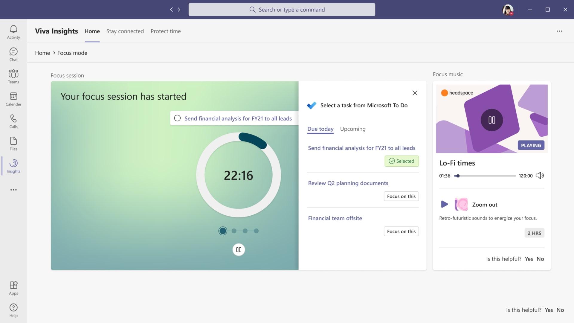 """présentation du mode """"concentration"""" sur Microsoft Teams"""