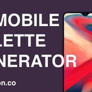 mobile palette generator