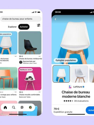 démonstration des possibilités de shopping sur Pinterest