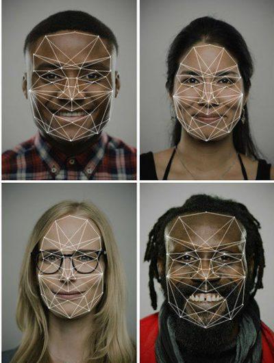 Aperçu de visages capturés par la reconnaissance faciale.