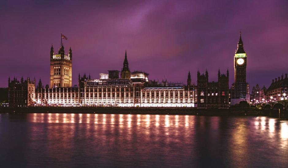 Le palais de Westminster, à Londres.