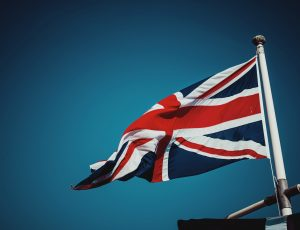 Le drapeau du Royaume-Uni.