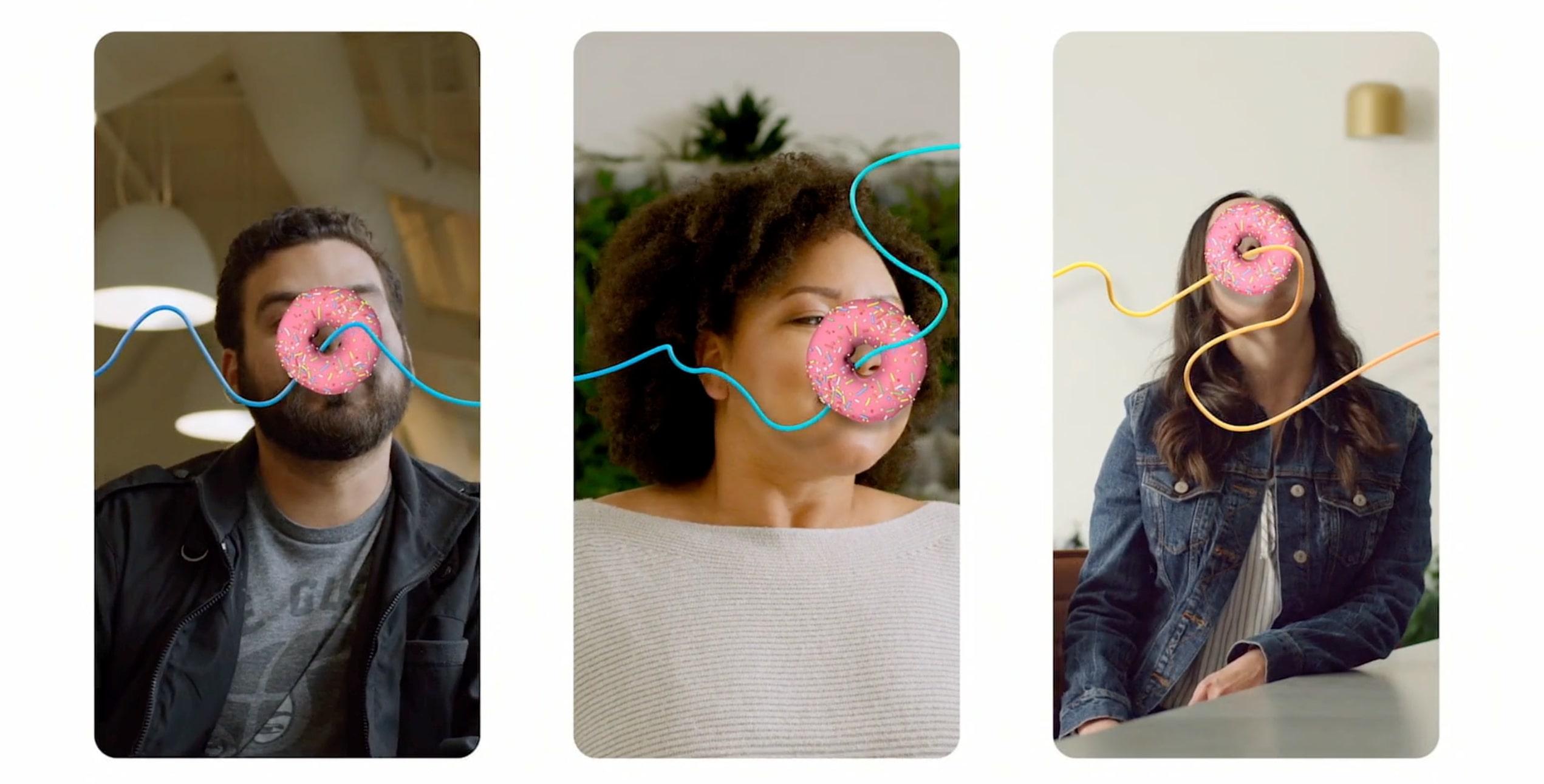 démonstration des filtres de réalité augmentée de Spark AR