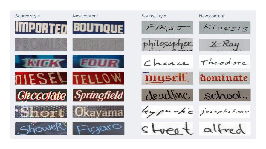 démonstration de textstylebrush qui recopie une écriture à partir d'une photo