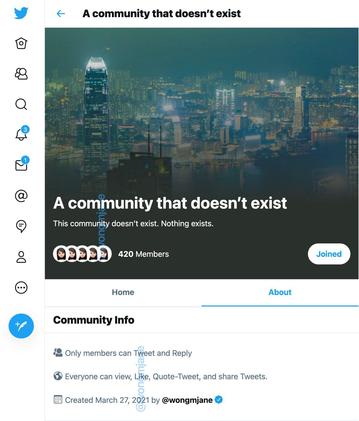 aperçu de Communities sur Twitter