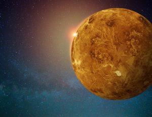 Vision d'artiste de la planète Vénus.