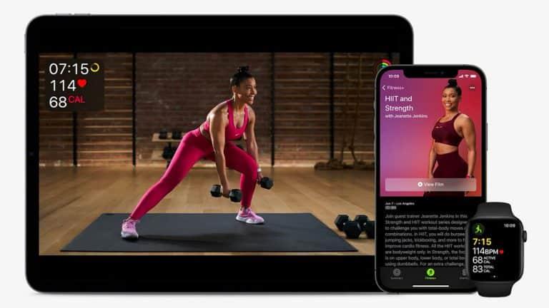 présentation du nouveau programme de sport d'Apple avec une coach sportive