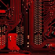 Photographie de circuits de microprocesseur.