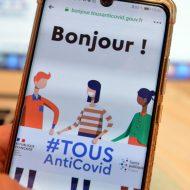 Aperçu de l'app TousAntiCovid
