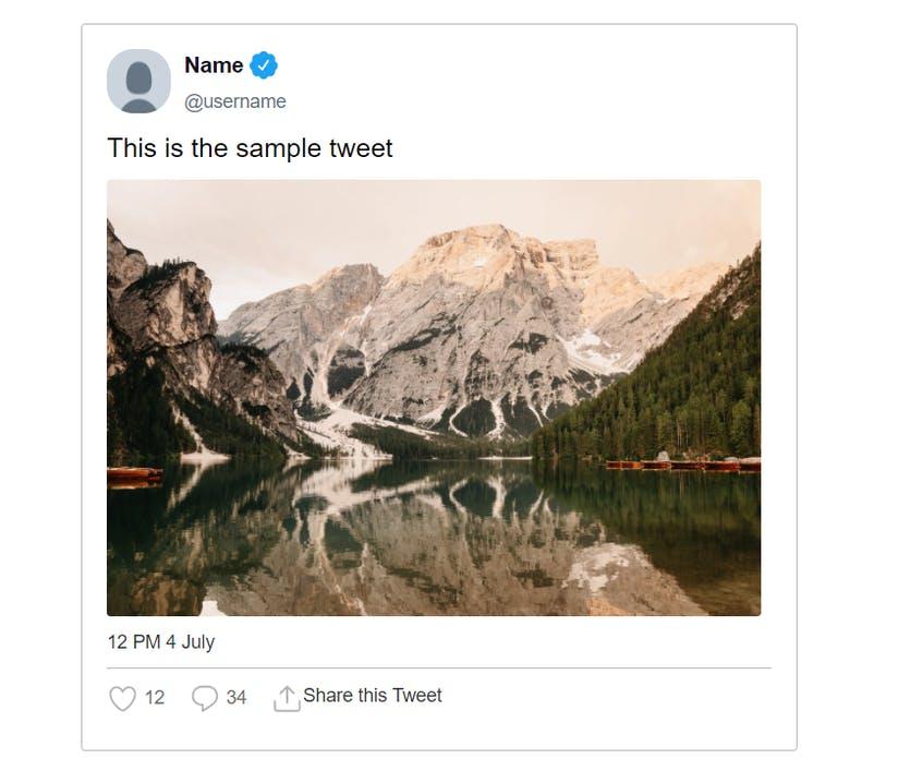 exemple de tweets crées via FakeTweetMaker