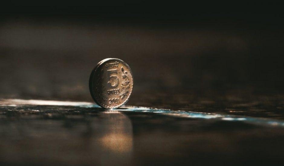 Image d'une pièce de roupie indien amené à disparaitre au profit d'une monnaie numérique de banque centrale indienne.